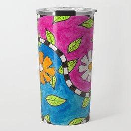 Yin and Yang Flowers Travel Mug