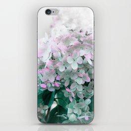 Soft Pastel Hydrangeas iPhone Skin