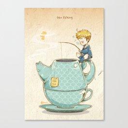 Tea Fishing Canvas Print