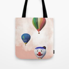 Happy hotair balloons with cotton candy Tote Bag