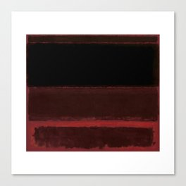 1958 Four Darks on Red by Mark Rothko Canvas Print