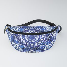Mandala Blue Colorburst Fanny Pack