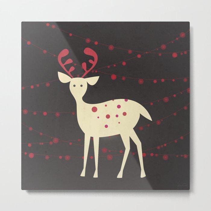 Christmas Reindeer Metal Print