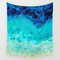 paper Wall Tapestries featuring INVITE TO BLUE by Catspaws