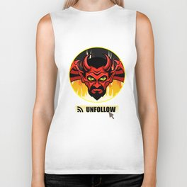 Devil Religion Unfollow Jesus God Gift Biker Tank