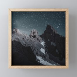 Night Mountain Travel Framed Mini Art Print
