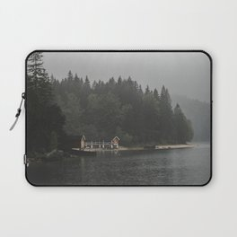 Foggy mornings at the lake II - landscape photography Laptop Sleeve