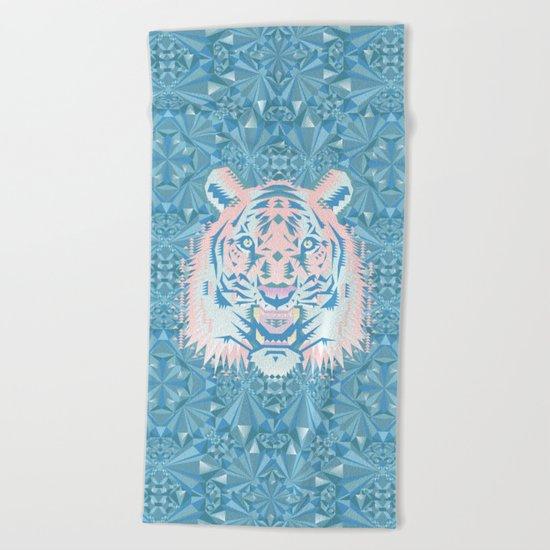 Pastel Quartz Tiger Beach Towel