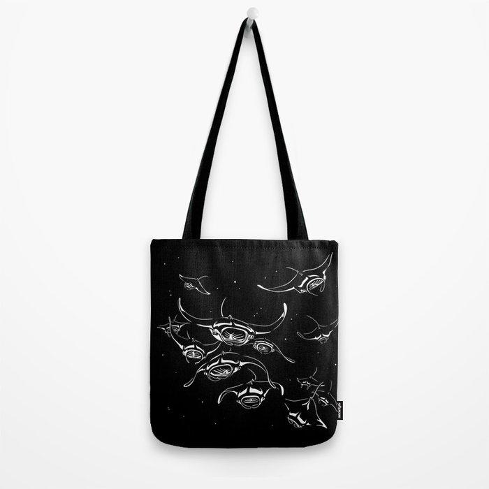 Manta Rays landing Tote Bag
