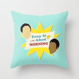 Community Troy & Abed in the Morning Throw Pillow