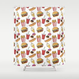 Fast Food Pattern Shower Curtain