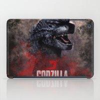 godzilla iPad Cases featuring Godzilla by Denda Reloaded