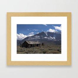 Shack South of Tahoe (color) Framed Art Print