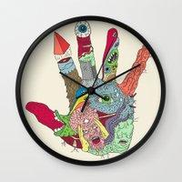 luke hemmings Wall Clocks featuring Put'er There by Josh Ln