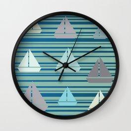 Boats & Stripes Wall Clock