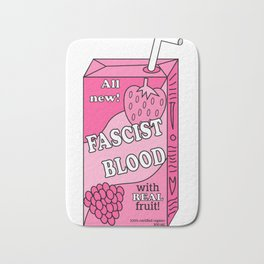 100% Fascist Blood Bath Mat