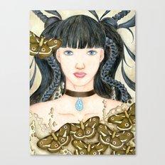 Moth Girl Canvas Print