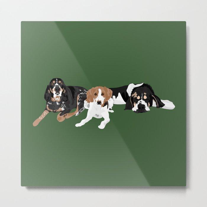 Three hounds Metal Print