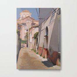 Watercolor City Metal Print