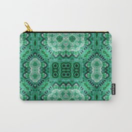 Green Mosiac Carry-All Pouch