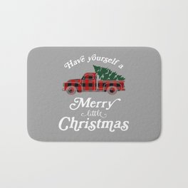 Have yourself a Merry little Christmas Vintage Truck Bath Mat