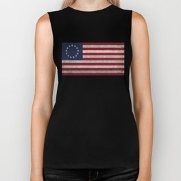 USA Betsy Ross flag - Vintage Retro Style Biker Tank