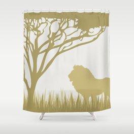 Lion on the Plains Shower Curtain