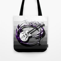 bass Tote Bags featuring Music - Bass by yahtz designs