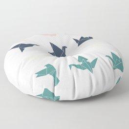 cranes version 2 Floor Pillow