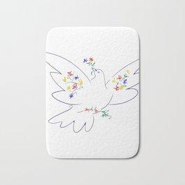 Picasso's Dove Bath Mat