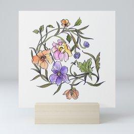 French garden flower botanicals Mini Art Print