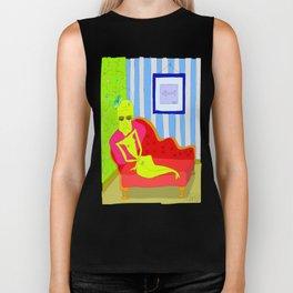 """Stealing Matisse"" (Picasso Watching) Biker Tank"