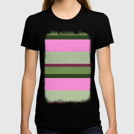 Pink Roses in Anzures 1 Stripes 3H T-shirt