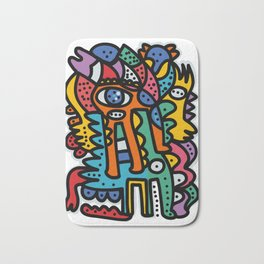 Graffiti Pre Colombian Street Art Cool Creatures Bath Mat