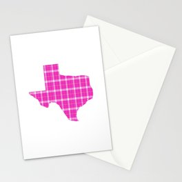 Texas State Shape: Pink Stationery Cards
