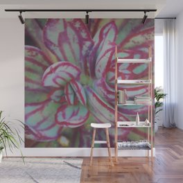 Succulent Stripes Wall Mural