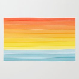Sunset on the Ocean Minimalist Painting Rug