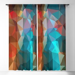 Abstract bright background of triangles polygon print illustration Blackout Curtain