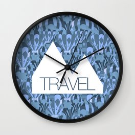 Reykjavik Boulevard #17 Wall Clock