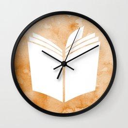 Watercolour Book (Sunset Orange) Wall Clock