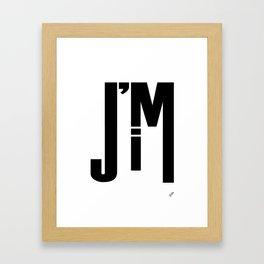 I'M JIM Framed Art Print