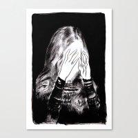 sarah paulson Canvas Prints featuring Sarah by Taylor Wessling