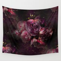 peony Wall Tapestries featuring peony by MINTSENSEART