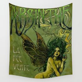 Vintage Parisian Green Fairy Absinthe Alcoholic Aperitif Advertisement Poster Wall Tapestry