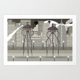 science fiction alien giant tripod Art Print
