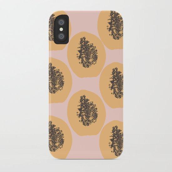 Papaya Print iPhone Case