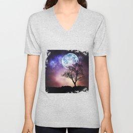 Moon and Tree Unisex V-Neck