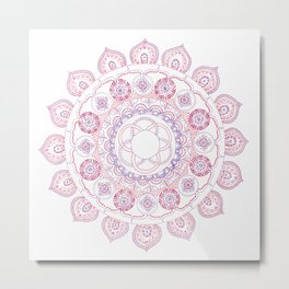 red and purple mandala Metal Print