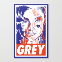 sasha grey Canvas Prints featuring Sasha Has A Posse by Nicolas Cours-Barracq