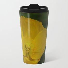 Yellow Poppy Travel Mug